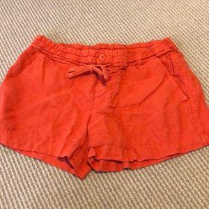 Vince Elastic Waist Linen Shorts